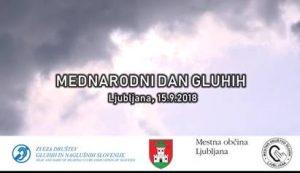 15. 9. 2018 Mednarodni dan gluhih Ljubljana in jedilnik