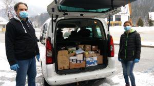 Društvu invalidov Kranjska Gora smo dali živila, katerim bo v kratkem potekel rok uporabe