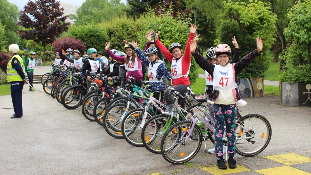 Opravljanje kolesarskega izpita – 5. razredi