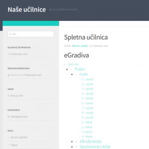 Slika s prikazom uporabe kratke kode v prispevku