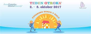 Teden otroka 2. do 8. oktober 2017