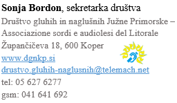 7. – 9. 09. 2018 Likovna galerija gluhih in naglušnih Koper