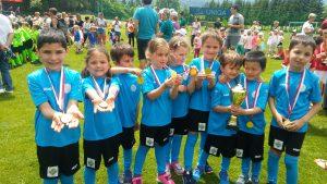 Otroci iz skupine Kekci so nastopili na mednarodnem nogometnem turnirju v Podkloštru v Avstriji