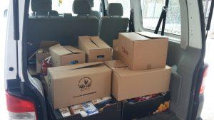 Zbrane prehrambene izdelke smo odpeljali dobrodelni organizaciji Anina zvezdica