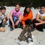 Sedmošolci so bili na planinskem taboru na Vršiču