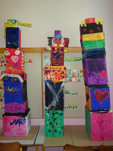 Totemi izpod ustvarjalnih rok drugošolcev