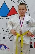 David (2.c) uspešen v Taekwondo-ju